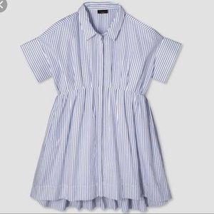 Victoria Beckham x Target Blue Stripe Poplin Dress